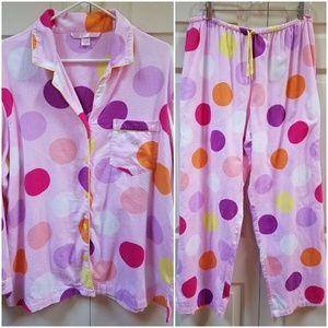Victoria's Secret flannel PJ set (shirt & pants)